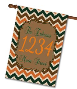 "Fall Chevron  - Address House Flag 28""x40"""