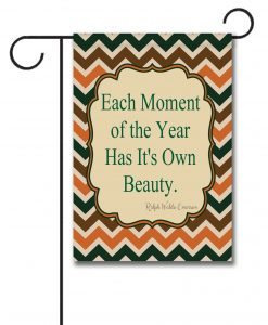Fall Chevron  - Quote Garden Flag - 12.5'' x 18''