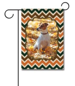 Fall Chevron  - Photo Garden Flag - 12.5'' x 18''