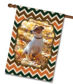 "Fall Chevron  - Photo House Flag 28"" x 40"""