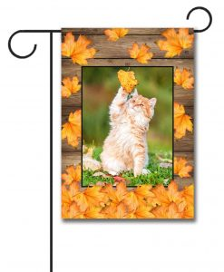 Falling Leaves  - Photo Garden Flag - 12.5'' x 18''