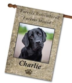 "Forever Remembered  - Photo House Flag 28""x40"""