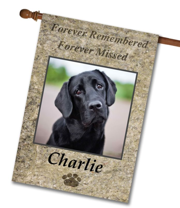 """Forever Remembered  - Photo House Flag 28""""x40"""""""