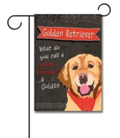 Golden Retriever- Garden Flag - 12.5'' x 18''