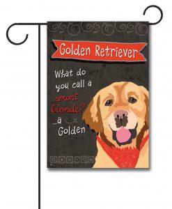 Golden Retriever- Garden Flag - 12.5'' x 18''