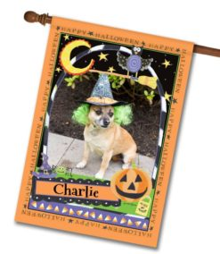 "Happy Halloween  - Photo House Flag 28""x40"""
