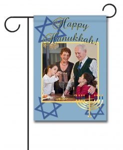 Happy Hanukkah - Photo Garden Flag - 12.5'' x 18''