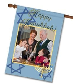 "Happy Hanukkah - Photo House Flag 28""x40"""