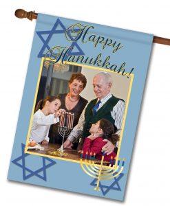 "Happy Hanukkah - Photo House Flag 28""x40"""