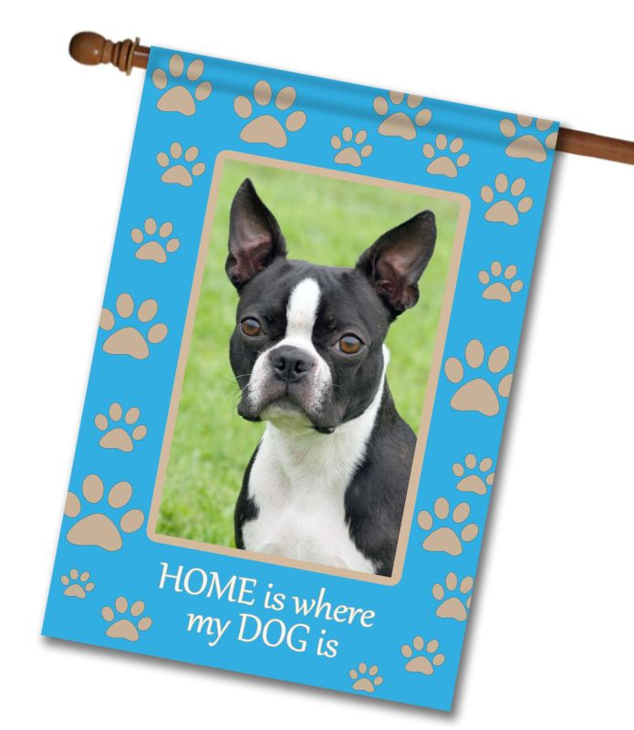 "Home is Where My Dog is - Photo House Flag 28""x40"""