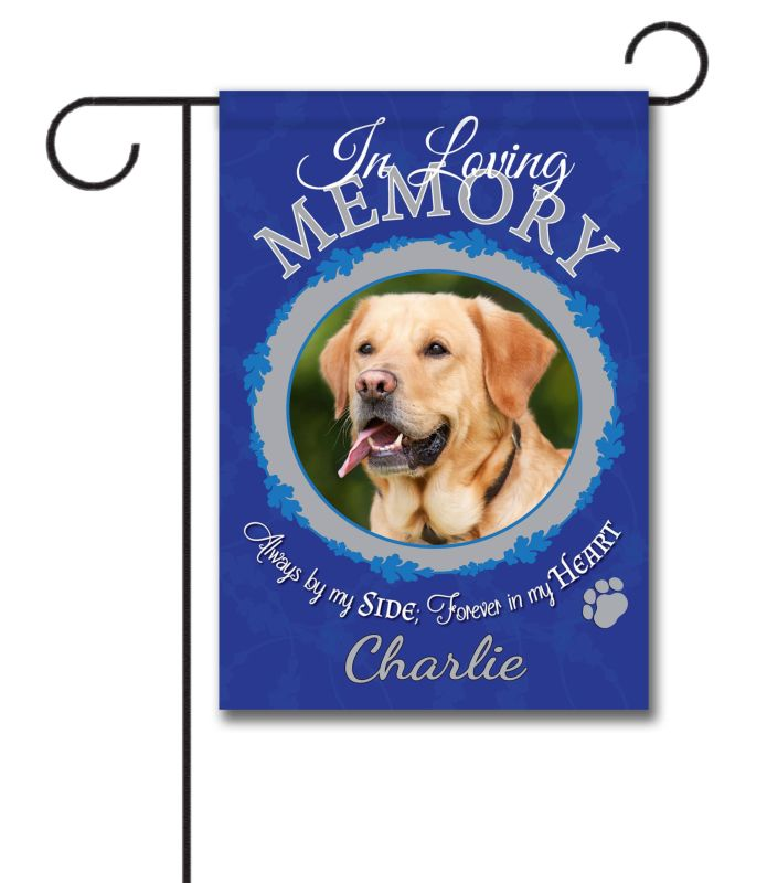 In Loving Memory Pet Photo Garden Flag 12 5 X 18