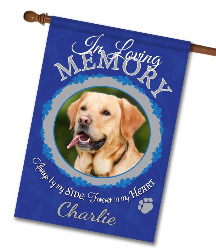 "In Loving Memory - Pet  - Photo House Flag 28""x40"""