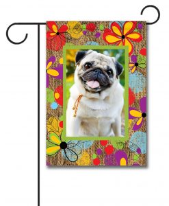 Inked Flowers - Photo Garden Flag - 12.5'' x 18''