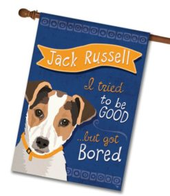 Jack Russell- House Flag - 28'' x 40''