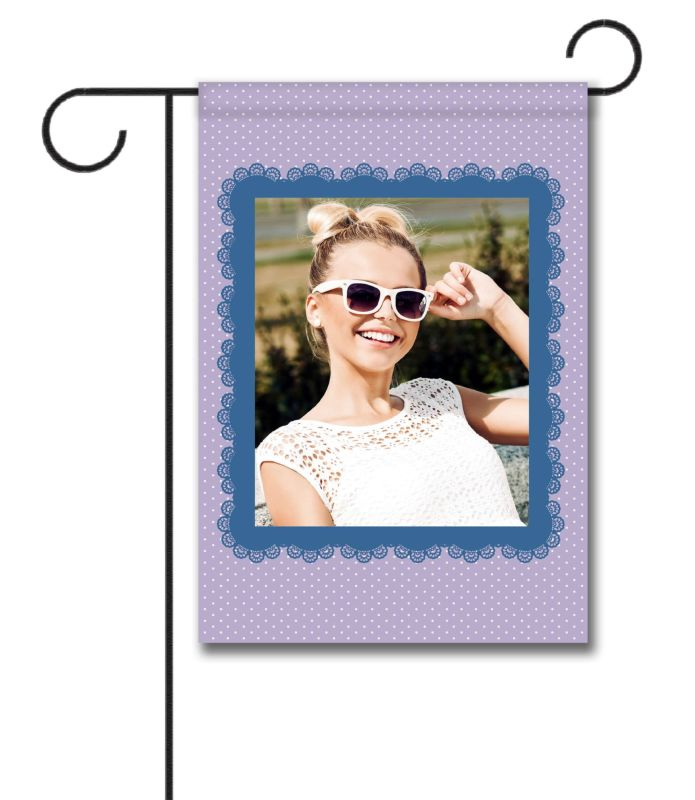 Lavender & Lace - Photo Garden Flag - 12.5'' x 18''