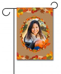 Leaf Wreath  - Photo Garden Flag - 12.5'' x 18''