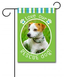 Rescue Dog Green - Photo Garden Flag - 12.5'' x 18''