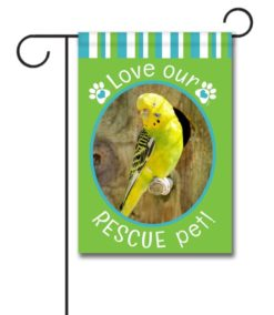 Rescue Pet Green - Photo Garden Flag - 12.5'' x 18''
