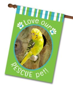 "Rescue Pet Green  - Photo House Flag 28""x40"""