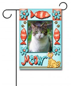 Meow- Photo Garden Flag - 12.5'' x 18''