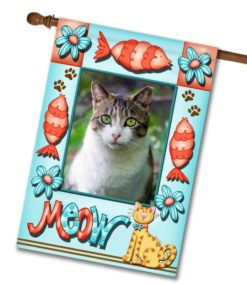 "Meow - Photo House Flag 28""x40"""
