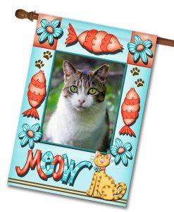 """Meow - Photo House Flag 28""""x40"""""""