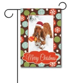 Merry Christmas Snowflakes - Photo Garden Flag - 12.5'' x 18''