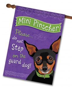 Mini Pinscher- House Flag - 28'' x 40''