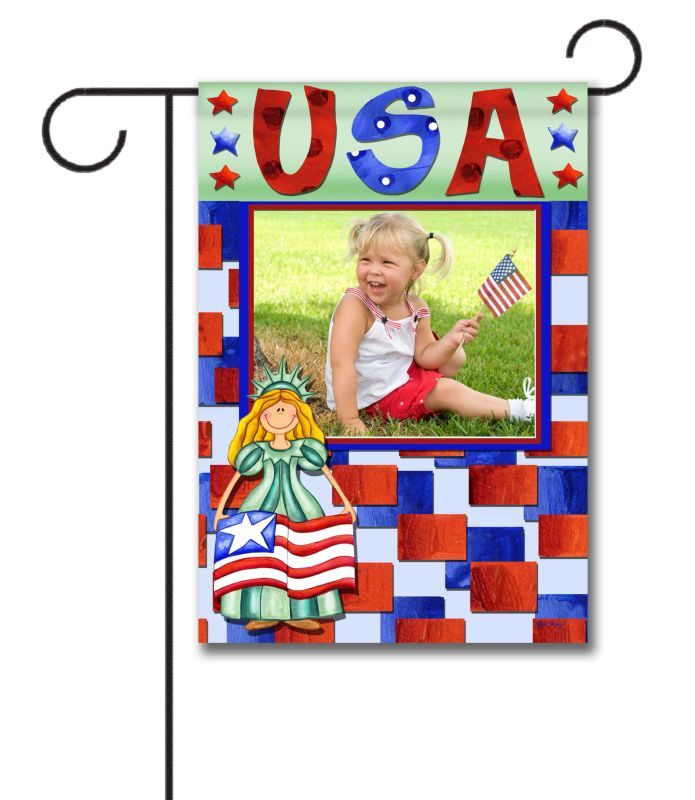 Miss Liberty USA- Photo Garden Flag - 12.5'' x 18''