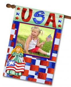 Miss Liberty USA - Photo House Flag - 28'' x 40''