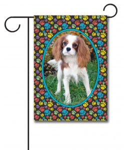 Paw Print Portrait II - Photo Garden Flag - 12.5'' x 18''
