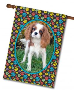 "Paw Print Portrait II  - Photo House Flag 28""x40"""