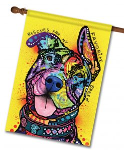 My Favorite Breed is Pit Bull - House Flag - 28'' x 40''