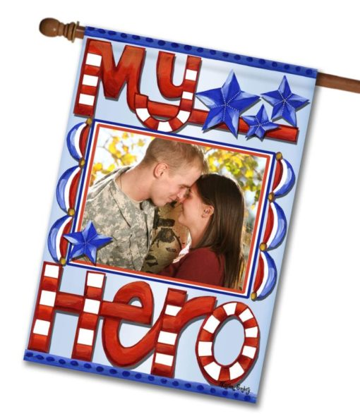 My Hero - Photo House Flag - 28'' x 40''