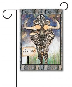 No Hunting Wildebeest! - Garden Flag - 12.5'' x 18''