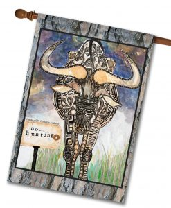 No Hunting Wildebeest! - House Flag - 28'' x 40''