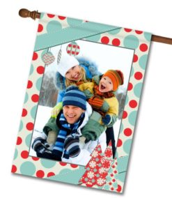 "Pastel Christmas - Photo House Flag 28""x40"""