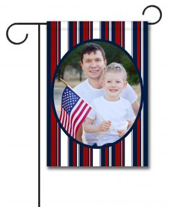 Patriotic Stripes II- Photo Garden Flag - 12.5'' x 18''