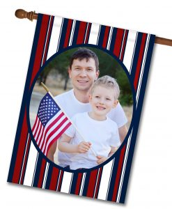 Patriotic Stripes II - Photo House Flag - 28'' x 40''