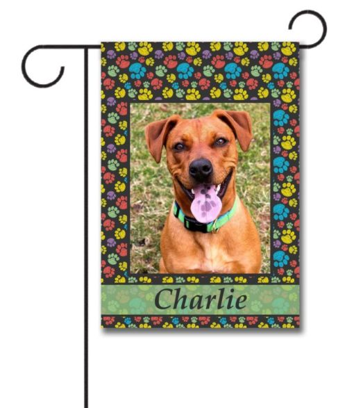 Paw Print Portrait I - Photo Garden Flag - 12.5'' x 18''