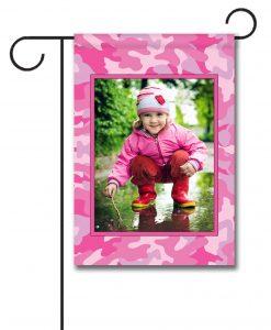 Pink Camo  - Photo Garden Flag - 12.5'' x 18''