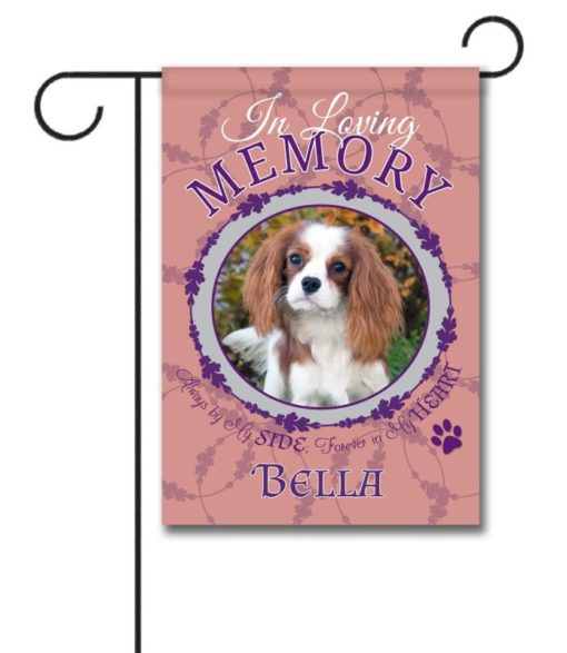 In Loving Memory - Pet Pink - Photo Garden Flag - 12.5'' x 18''