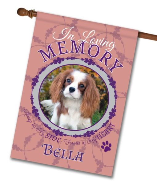 "In Loving Memory - Pet Pink  - Photo House Flag 28""x40"""