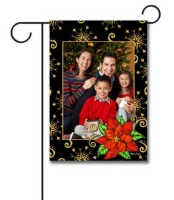 Poinsettia - Photo Garden Flag - 12.5'' x 18''