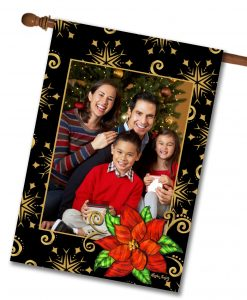 "Poinsettia - Photo House Flag 28""x40"""