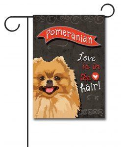 Pomeranian- Garden Flag - 12.5'' x 18''