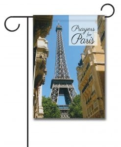 Prayers for Paris - Garden Flag - 12.5'' x 18''