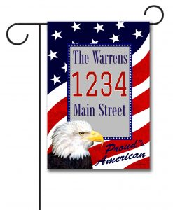 Proud American Eagle   - Address Garden Flag - 12.5'' x 18''