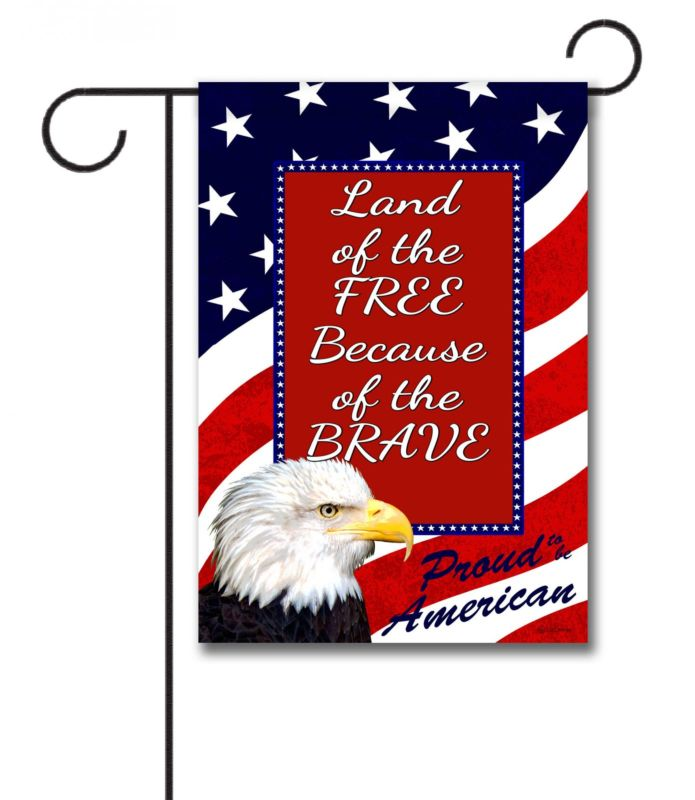 Proud American Eagle Quote Garden Flag 12 5 X 18 Custom Printed Flags Flagology