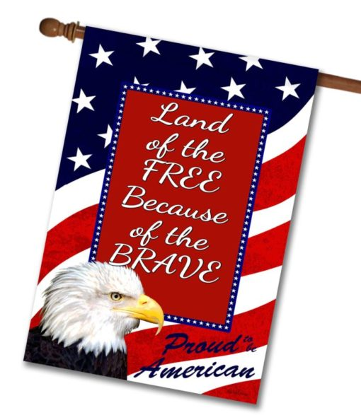 "Proud American Eagle   - Quote House Flag - 28"" x 40"""